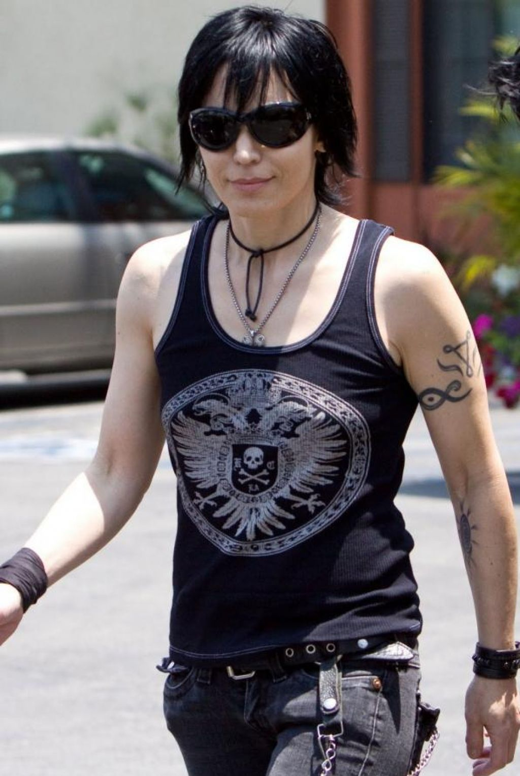 Joan Jett Arm Tribal Tattoo Pictures