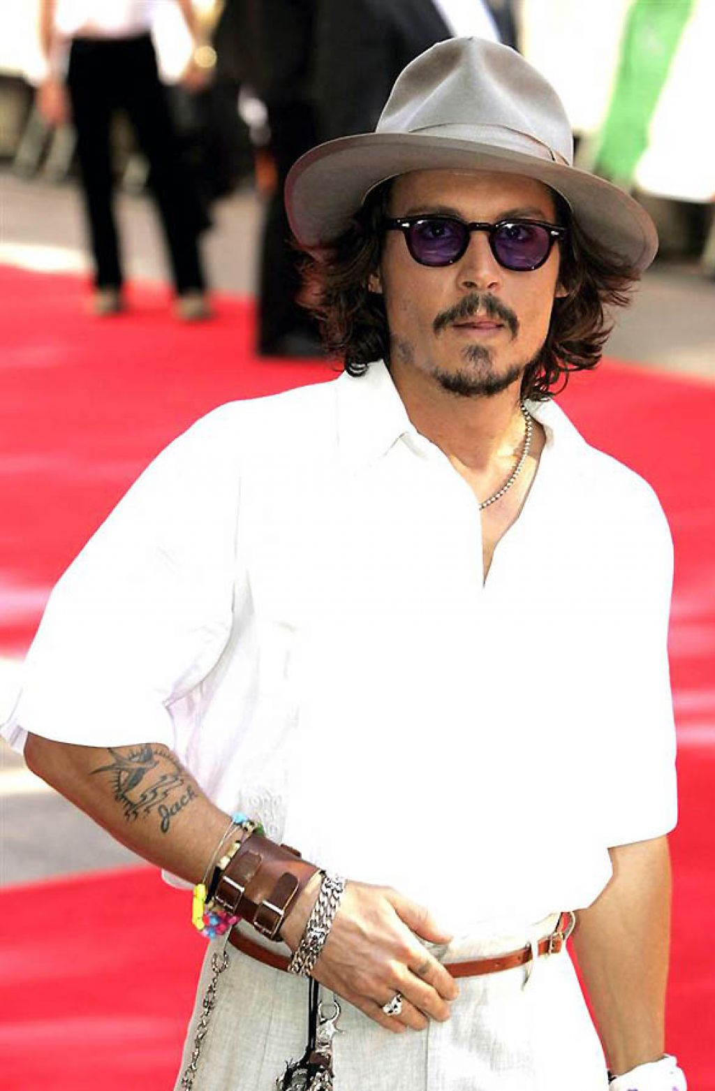 Johnny Depp Jack Tattoo On Right Forearm Pictures