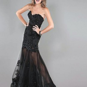 Jovani Long Lace Evening Dresses Black Pictures