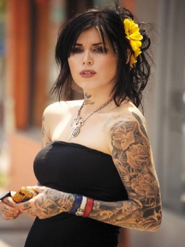 Kat Von D Full Sleeve Tattoo From LA Link Tattoo