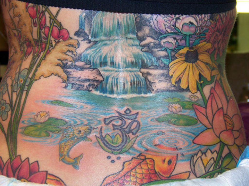 Koi And Water Tattoos Design Ideas Pictures