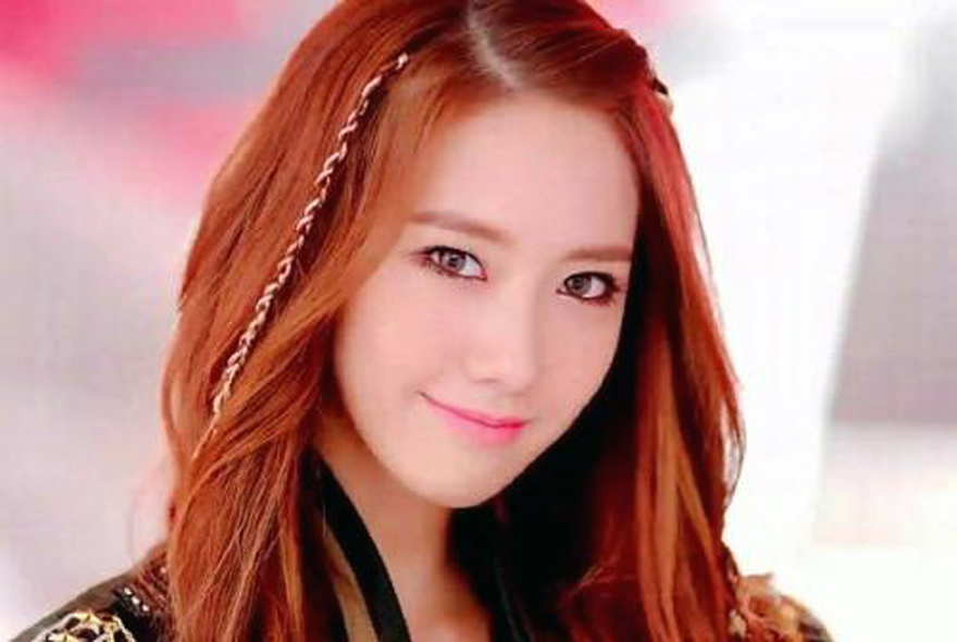 Korean Auburn Hair Straight Styles