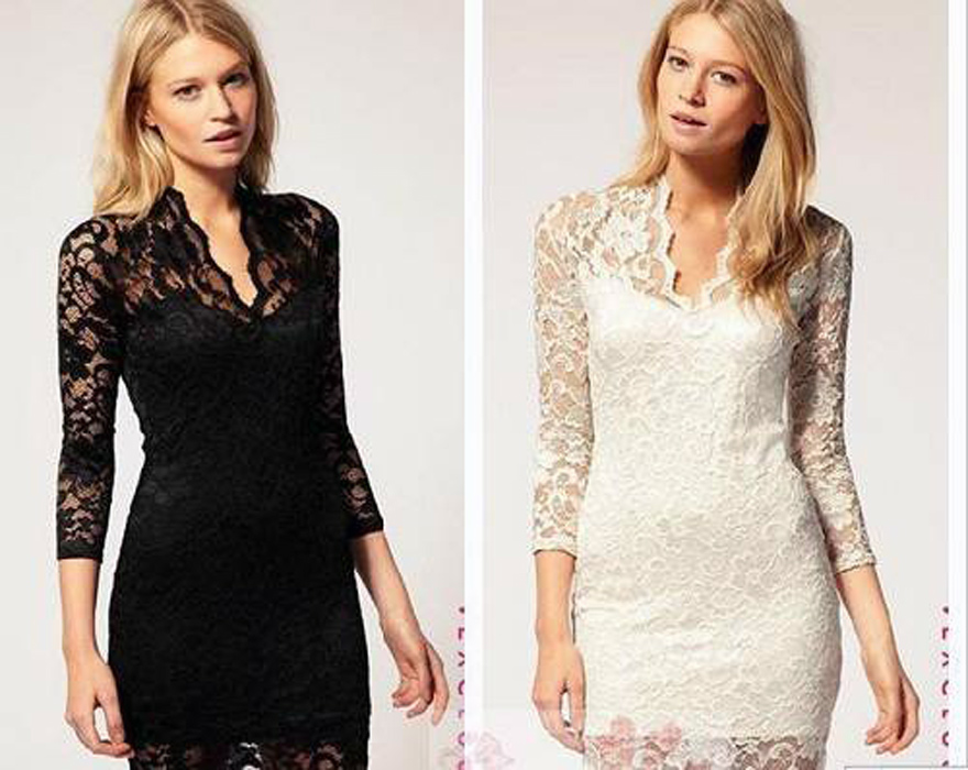 Lace Dinner Gowns Images