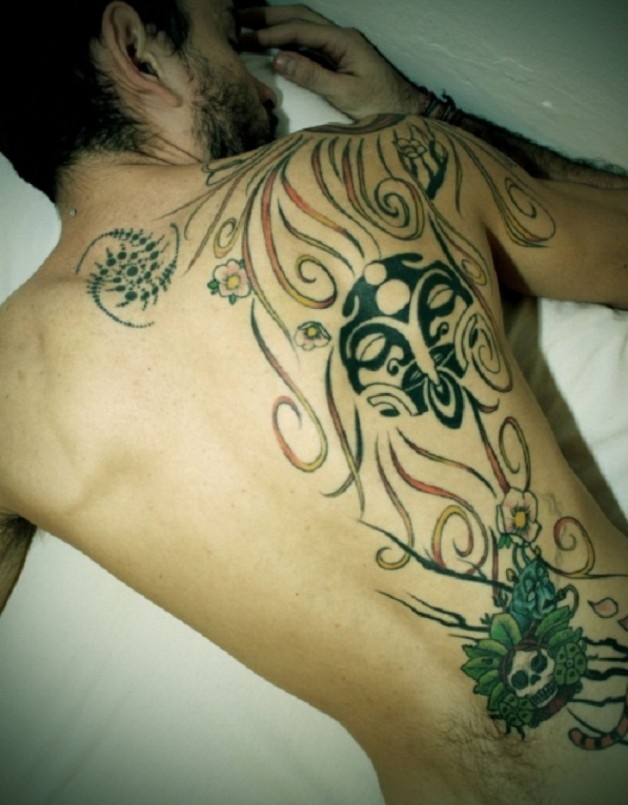 Large Back Tattoo For Men With Vivid Ink Color