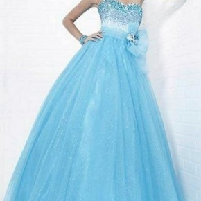 Light Blue Prom Dress Long Option Pictures