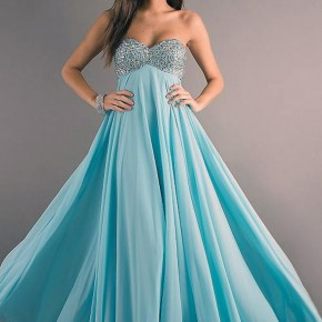 Light Blue Prom Dresses Long Pictures