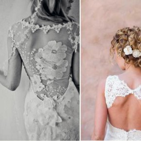 Long Dress With Lace Back For Sale Pictures