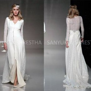 Long Dress With Lace Back Ideas Pictures