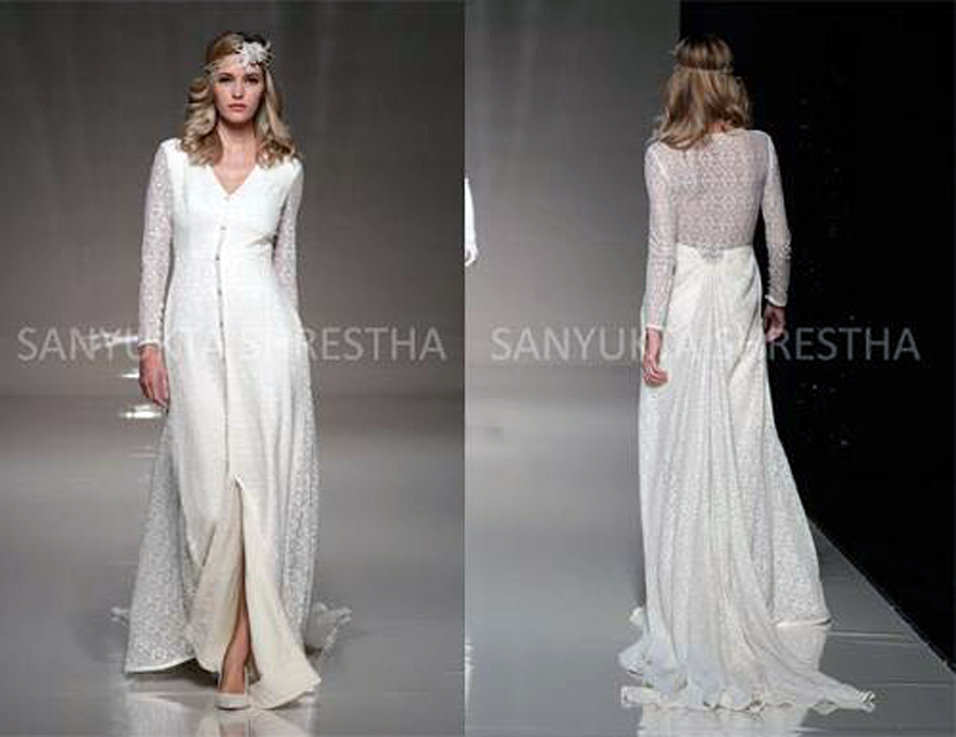 Long Dress With Lace Back Ideas