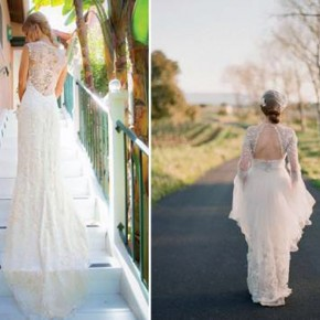 Long Dress With Lace Back Styles Pictures