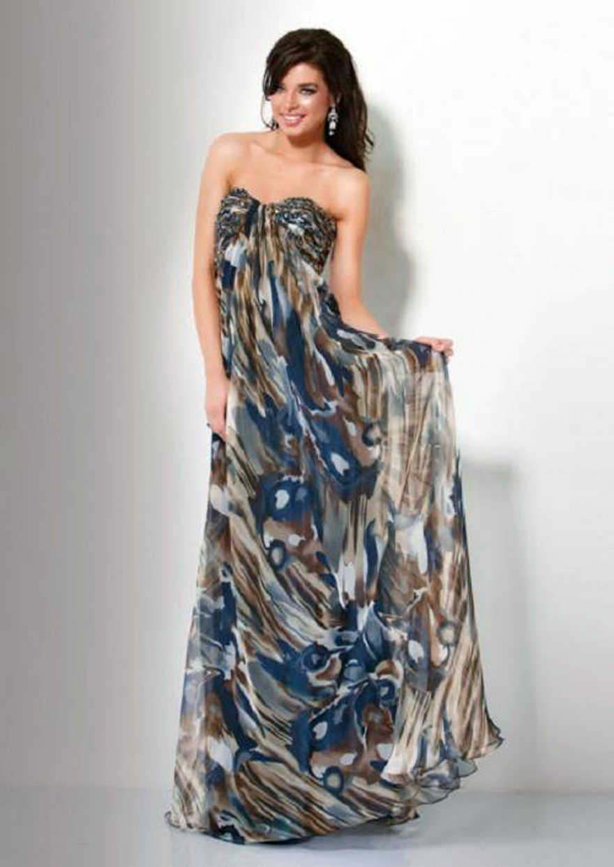 Long Formal Camo Dresses Cheap