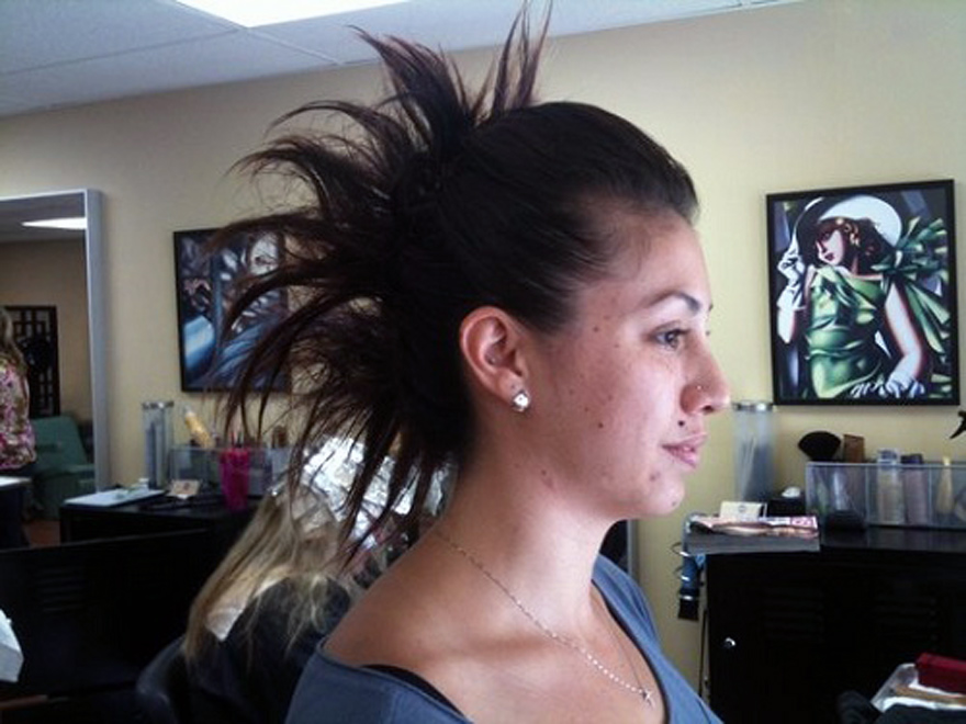 Long Hair Mohawk Updos Ideas