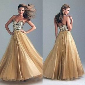 Long Prom Dresses Gold 2013 Pictures