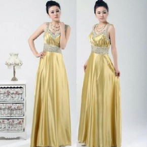 Long Prom Dresses Gold Images Pictures