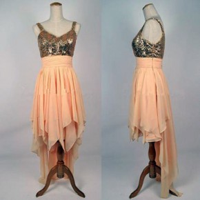 Long Prom Dresses Gold Styles Pictures