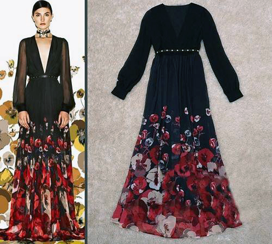 Long Sleeve Maxi Dresses For Women Floral