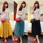 Long Spring Skirts Designs Pictures