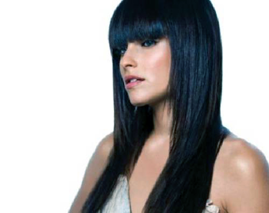 Long Straight Hairstyles 2013 With Bangs