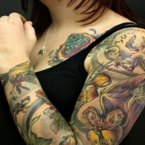 Lovely Full Tatoo Sleeves For Women Pictures