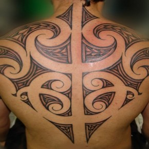 Maori Tribal Tattoo On Back Pictures