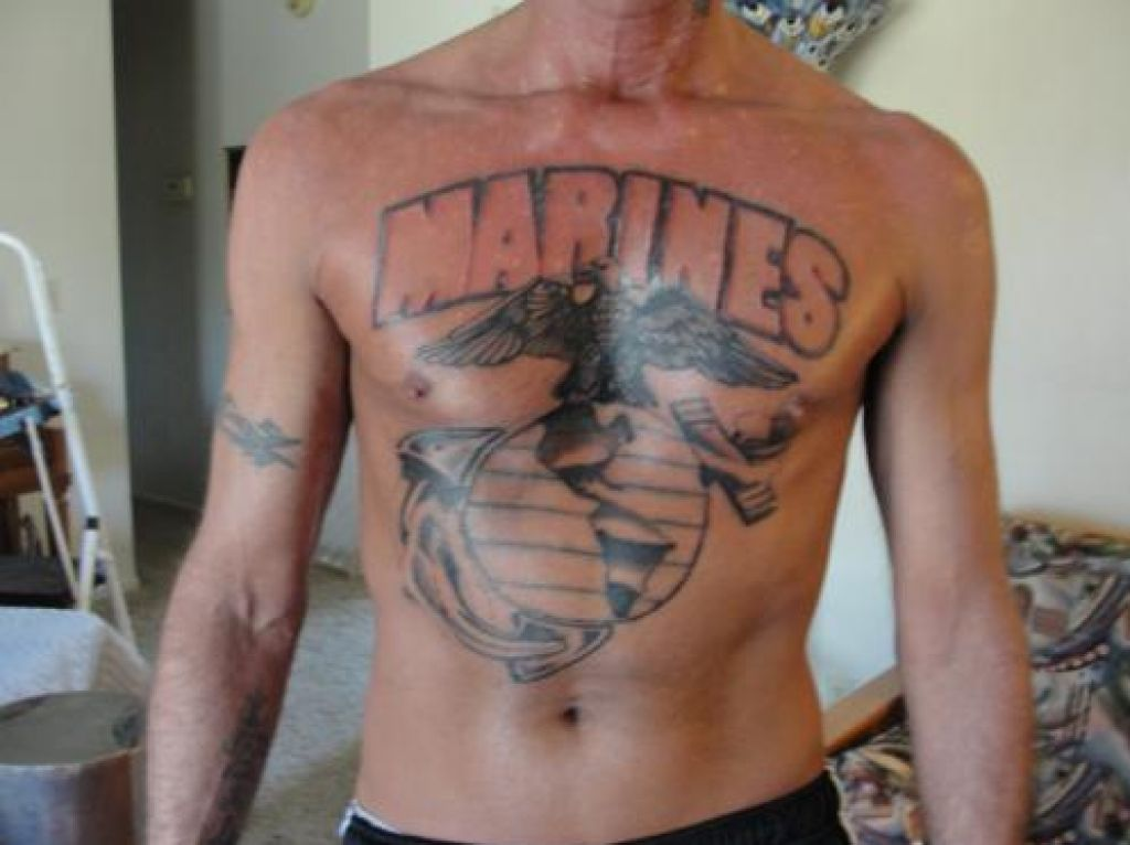 Marines Corps Tattoos Large Font Pictures