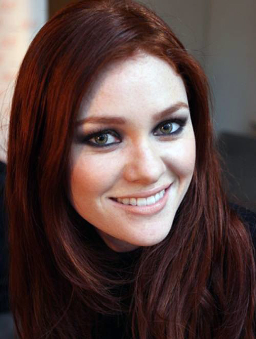 Auburn Hair Color For Brown Eyes