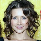 Medium Short Hair Curled Images Pictures