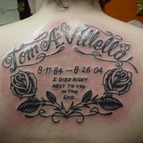 Memorial Tattoo Quotes For Back Pictures