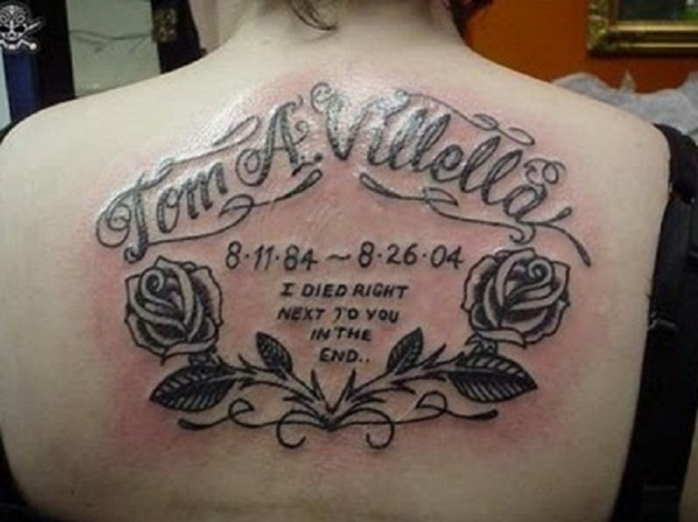 Memorial Tattoo Quotes For Back