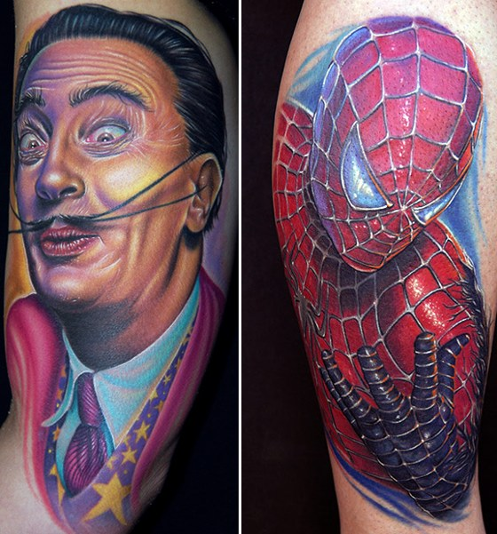 Mike Devries And Spiderman Motif Best Tattoos Artis Design Pictures