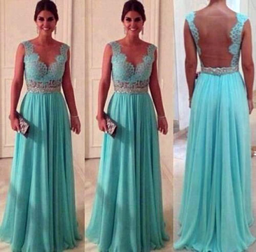 Mint Green Long Prom Dresses Images