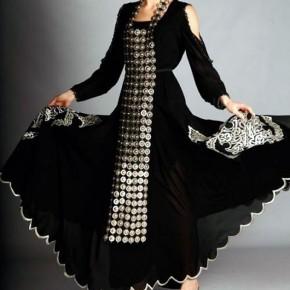 Modern Arabic Dresses Black Pictures