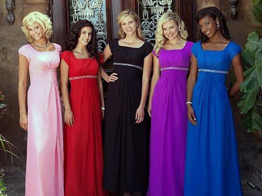 Modest Bridesmaid Dresses With Sleeves
