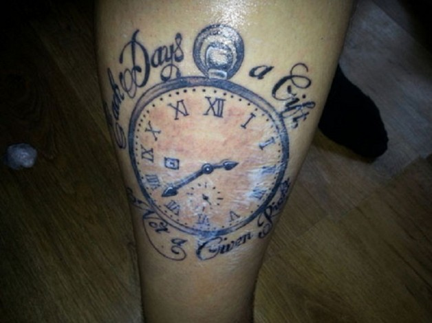 Motivational Watch Tattoo With Quotes
