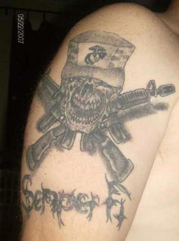 My Marine Corps Tattoo Cabiness