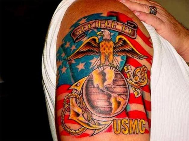 My Marine Corps Tattoo Stamos