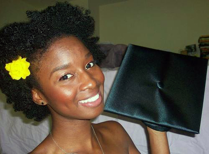 Natural Hairstyles For Graduation Cap