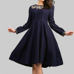 Navy Blue Dress Accessory Pictures