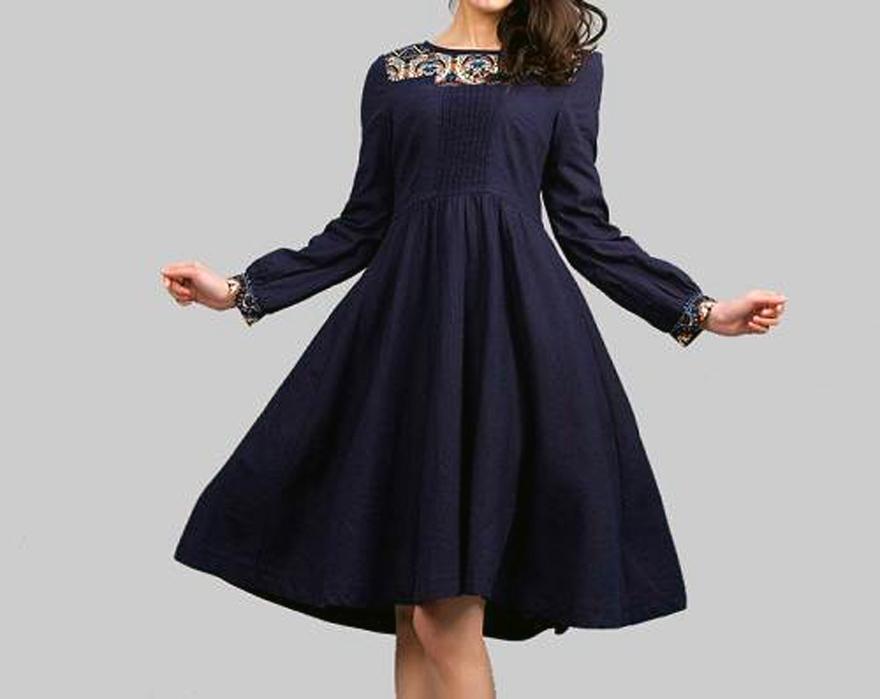 Navy Blue Dress Accessory