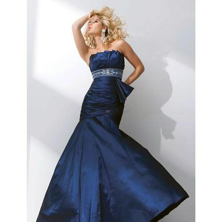 Navy Blue Long Prom Dresses Designs