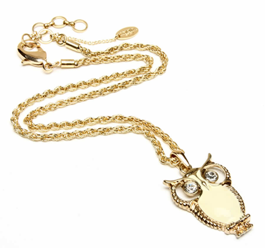 New Accessories Women Classic And Elegant Enamel Owl Pendant Design For Women Fashion