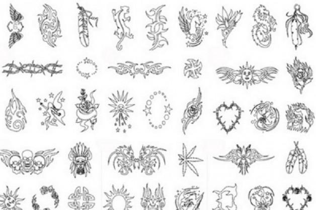 Nice Black Tattoo Stencils