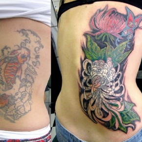 Nice Cover Up Tattoo For Women Pictures