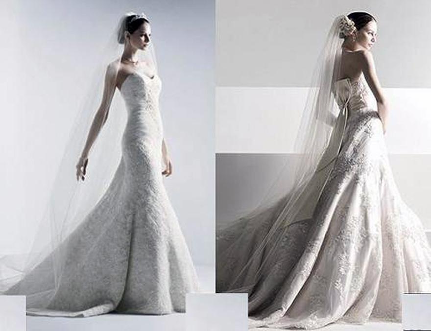 Oleg Cassini Wedding Dress Fit And Flare