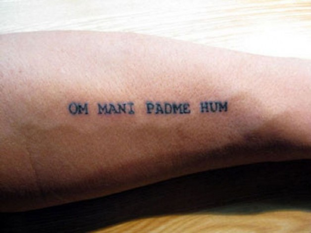 Om Mani Padme Hum Forearm Budha Tattoo Ideas