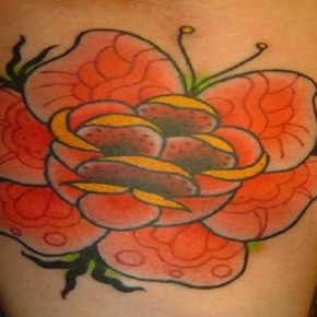 Orange Rose Tattoo Designs Ideas Pictures