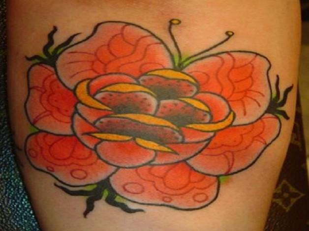 Orange Rose Tattoo Designs Ideas