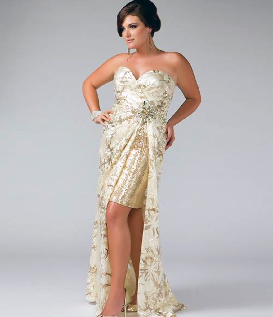 Patterned Grad Dresses 2013