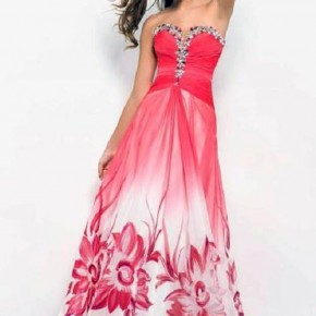 Patterned Grad Dresses Flower Pictures