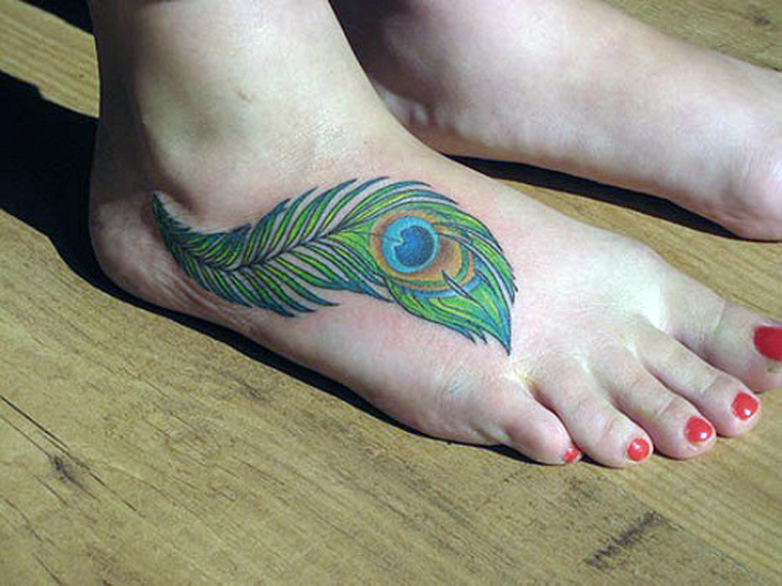 Peacock Feathers Tattoos Ideas